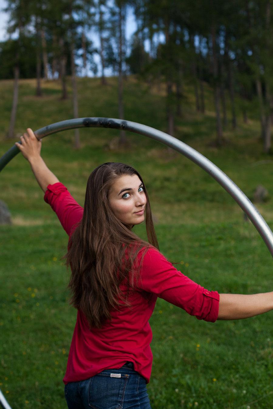 Shena with cyr wheel