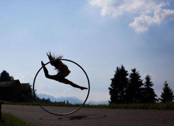 Cyr wheel jump shadow