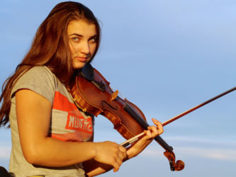 My fiddle and I