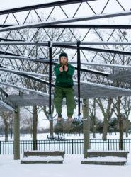 Balancing on a trapeze
