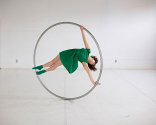 Cyr wheel in green