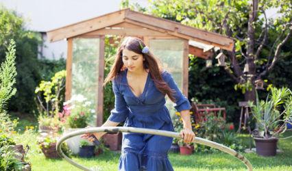 Cyr wheel in the garden