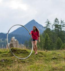 Descent with cyr wheel