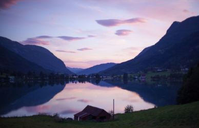 Fjords before dark