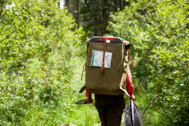 Portaging with a Duluth pack