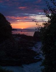 Sundown on an atlantic island