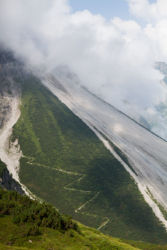 Zig zag path from Lünersee