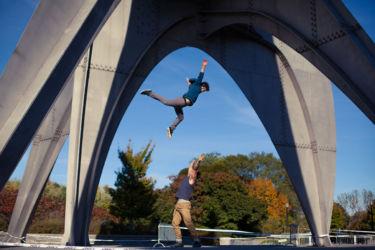 Flying under sculpture